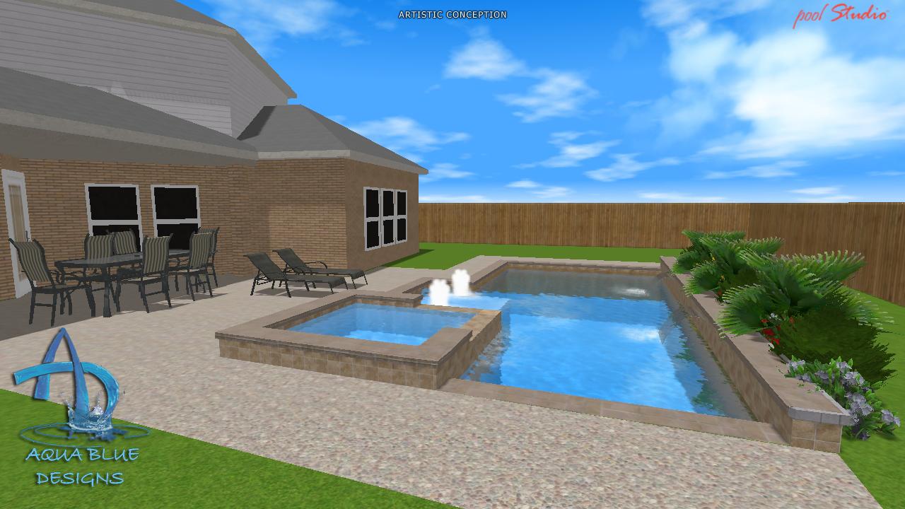 Aqua blue designs 3d pool studio designs - Free swimming pool maintenance software ...