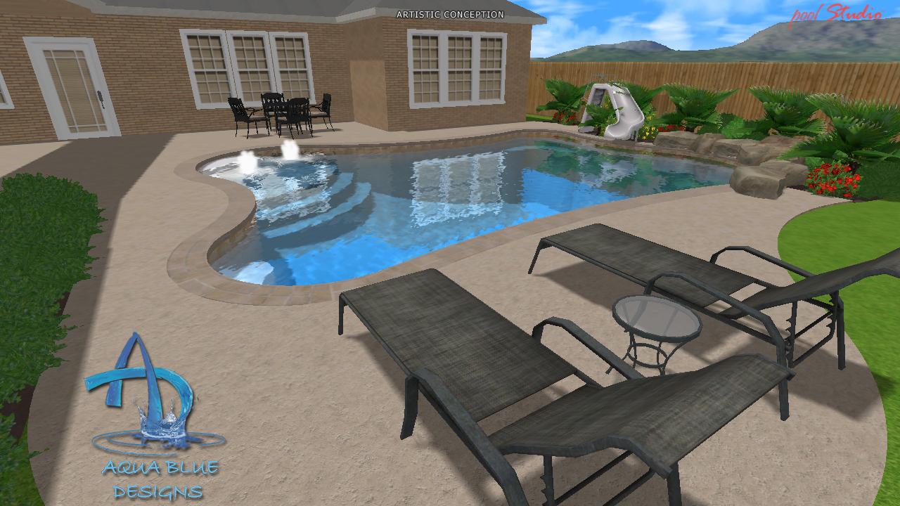 Aqua Blue Designs 187 3d Pool Studio Designs